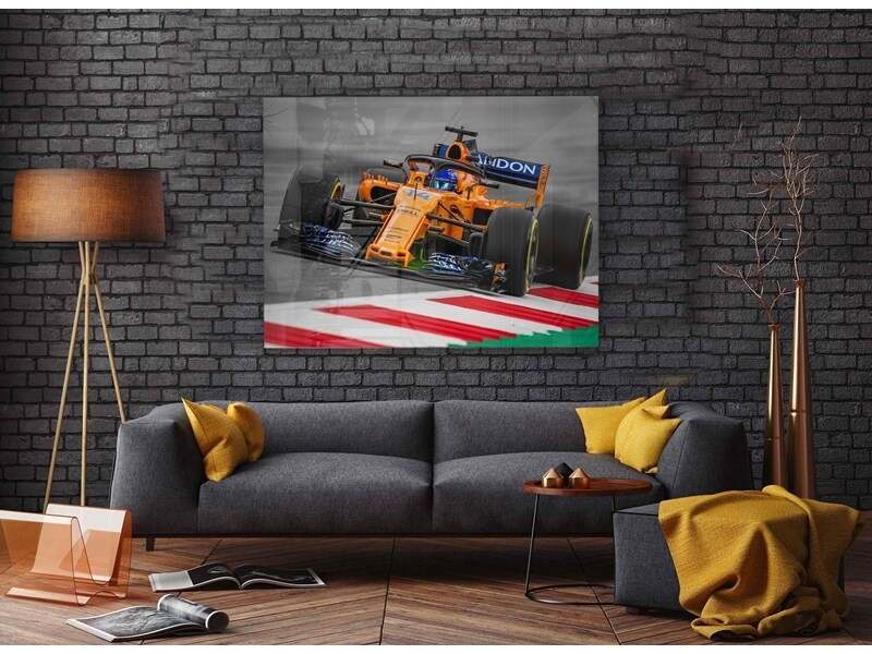 McLaren Fernando Alonso GP Oostenrijk 2018 op plexiglas