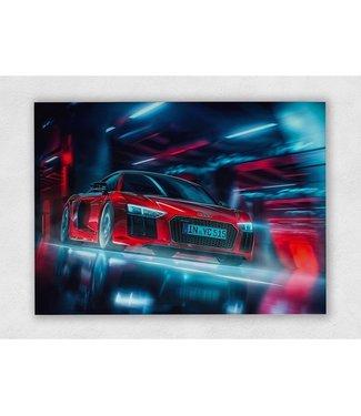 Audi R8 V10 Plus op plexiglas