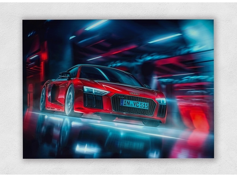 Audi R8 V10 Plus The Dream op plexiglas