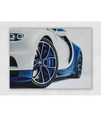 Bugatti Chiron 16.4 Blue Power op plexiglas