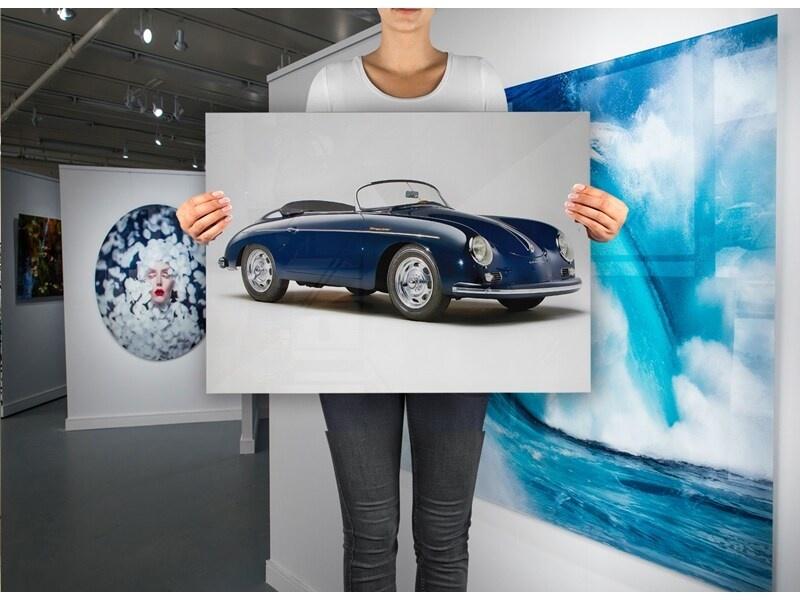 Porsche 356 1600 Speedster op plexiglas