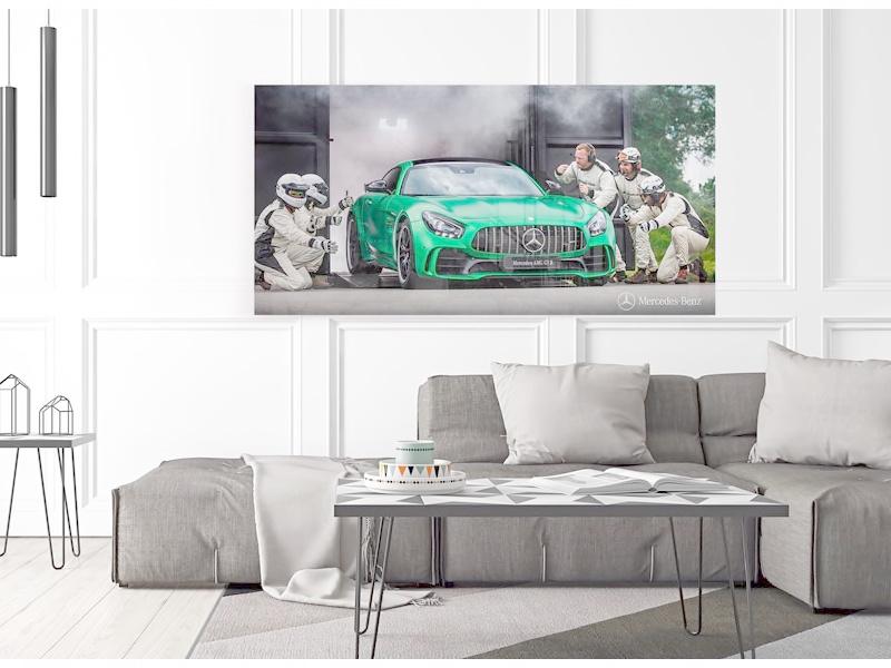 Mercedes-Benz AMG GT R Pit Stop print op plexiglas