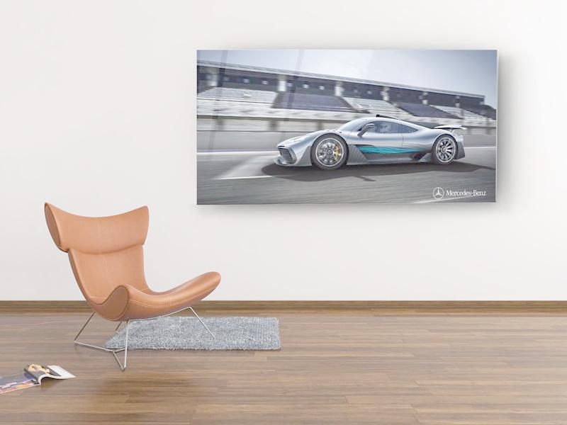 Mercedes-Benz AMG Vision Concept op plexiglas