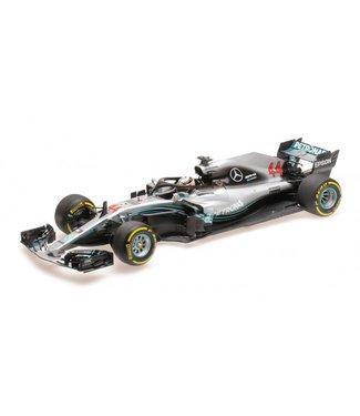 Minichamps Mercedes AMG | Lewis Hamilton  schaalmodel 2018 | 1:18