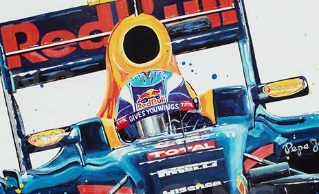 Max Verstappen Litho + Artwork RB12 - 2016 | Red Bull Racing