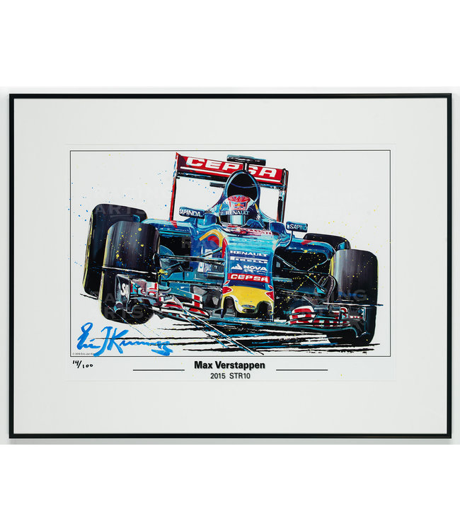 Litho / Acryl Max Verstappen STR10 | Toro Rosso 50x70cm