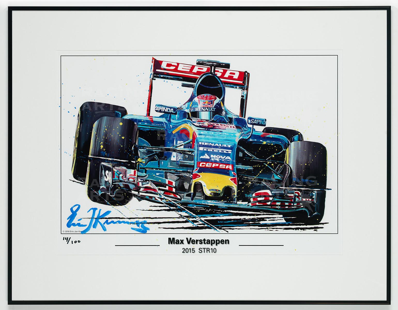 Litho / Acryl Max Verstappen STR10   Toro Rosso   Eric Jan Kremer