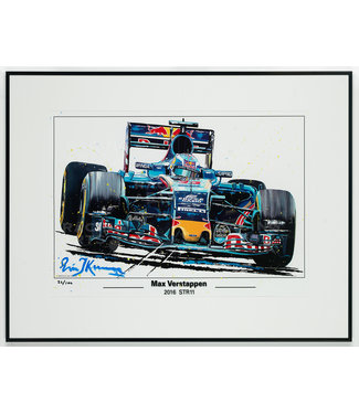Litho / Acryl Max Verstappen STR11 | Toro Rosso 50x70cm