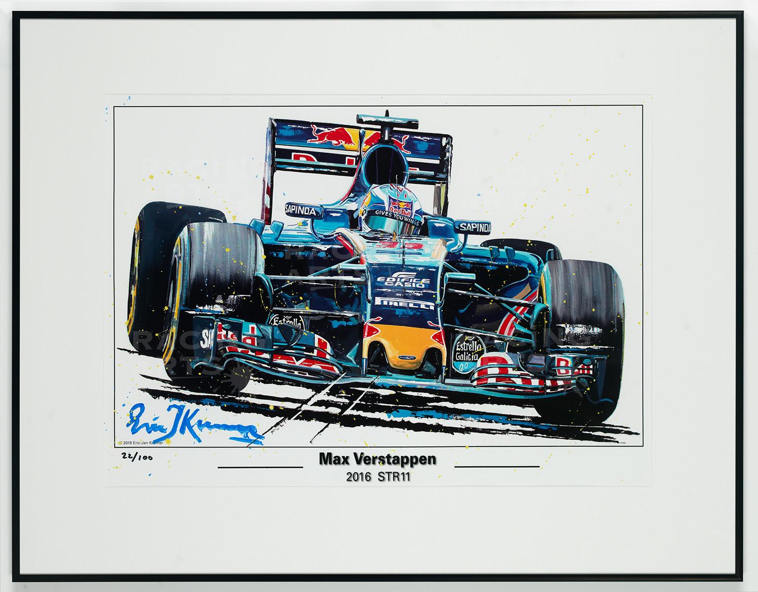 Litho / Acryl Max Verstappen STR11   Toro Rosso   Eric Jan Kremer