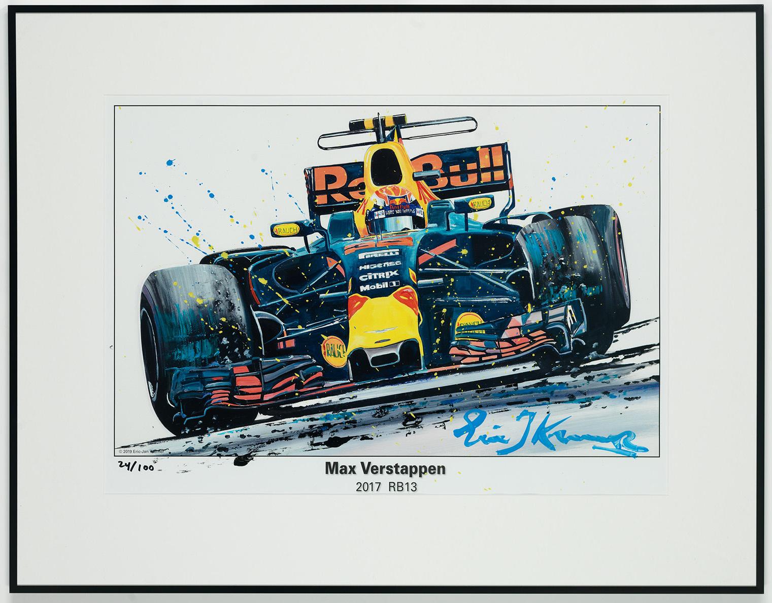 Max Verstappen Litho + Artwork RB13 - 2017 | Red Bull Racing