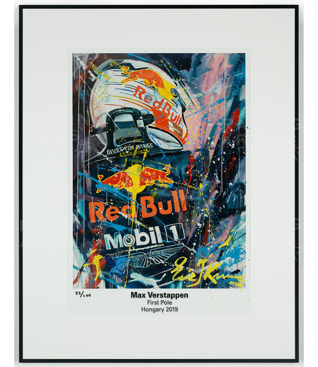 Max Verstappen First Pole Litho / Acryl | Eric Jan Kremer