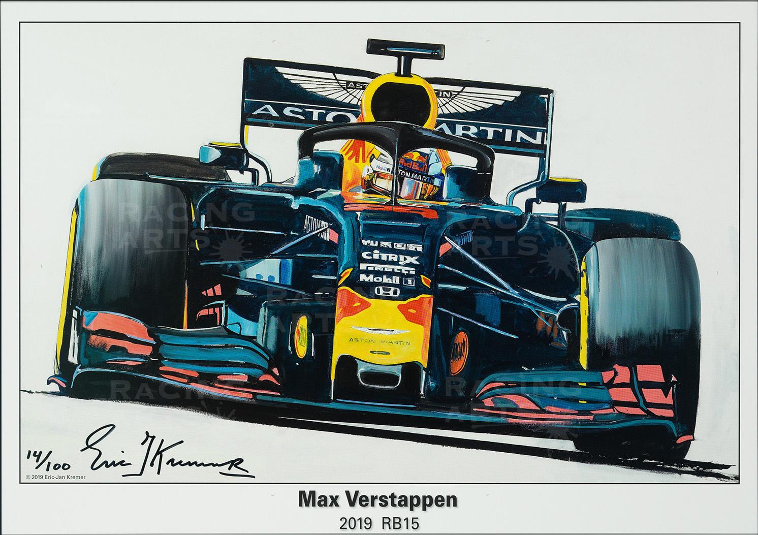 Max Verstappen Litho  RB15 - 2019 | Red Bull Racing