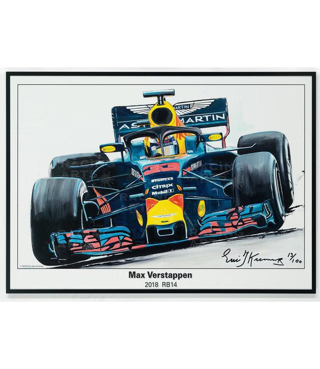 Max Verstappen Litho RB14 - 2018 | Eric Jan Kremer
