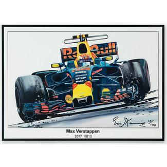 Max Verstappen Litho RB13 - 2017 | Eric Jan Kremer