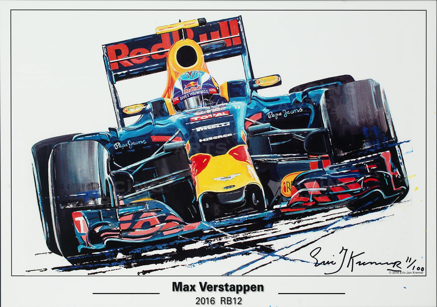 Litho Max Verstappen RB12 | Red Bull | Eric Jan Kremer
