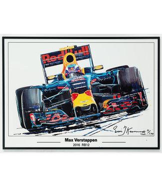 Litho Max Verstappen RB12 | Red Bull 50x70cm