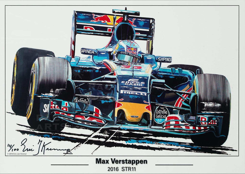 Litho Max Verstappen STR11 | Toro Rosso | Eric Jan Kremer