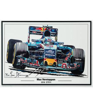 Litho Max Verstappen STR11 | Toro Rosso 50x70cm