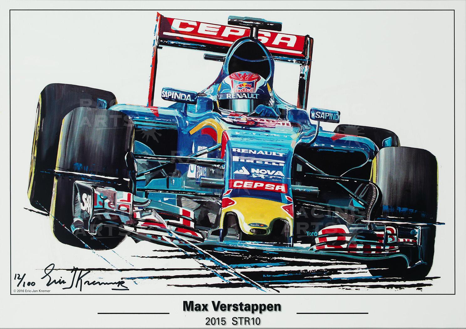 Litho Max Verstappen STR10 | Toro Rosso | Eric Jan Kremer