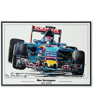 Litho Max Verstappen STR10 | Toro Rosso 50x70cm