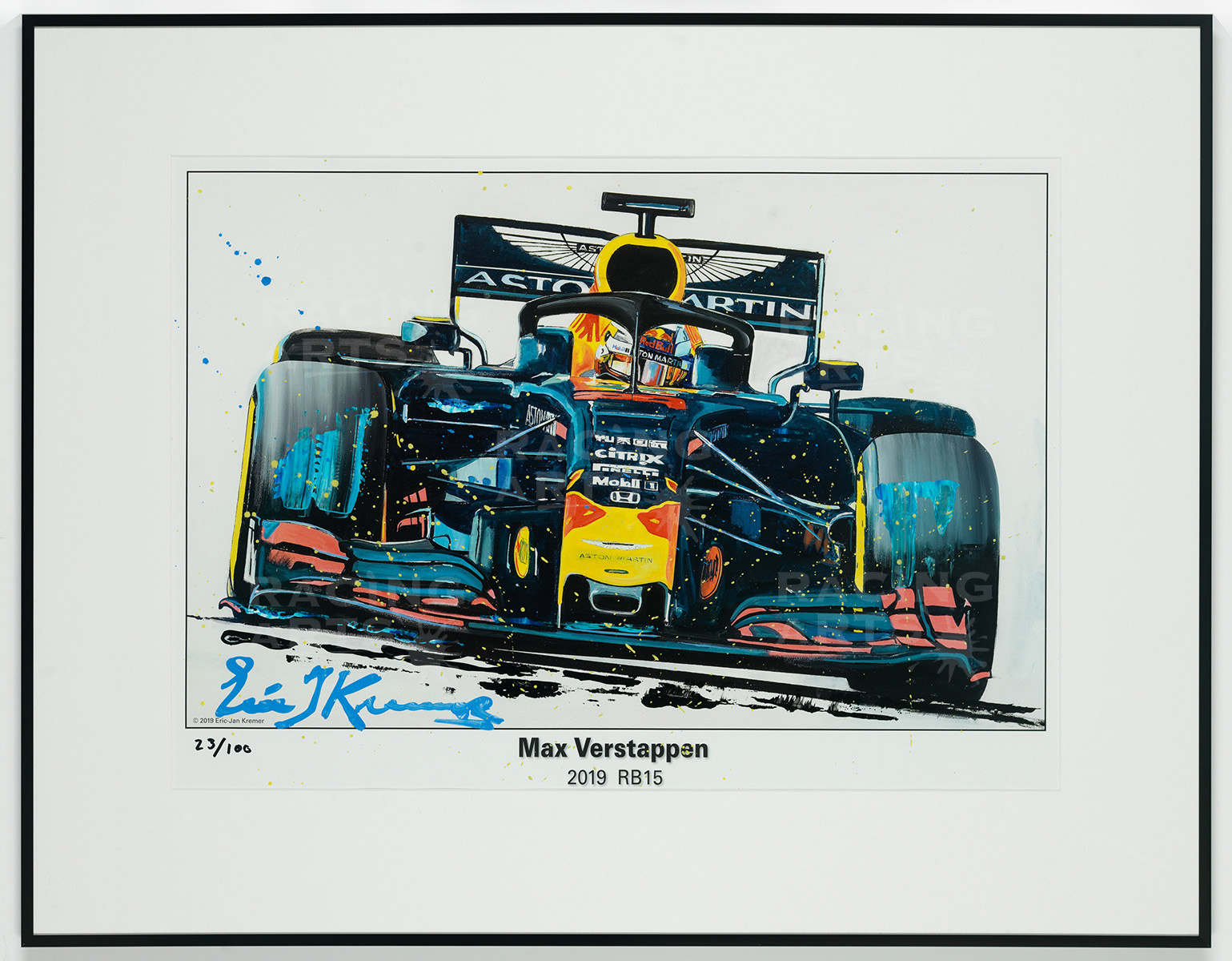 Max Verstappen Litho + Artwork RB15 - 2019 | Red Bull Racing