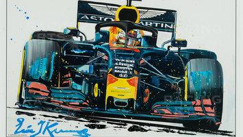 Max Verstappen litho's door topkunstenaar Eric Jan Kremer