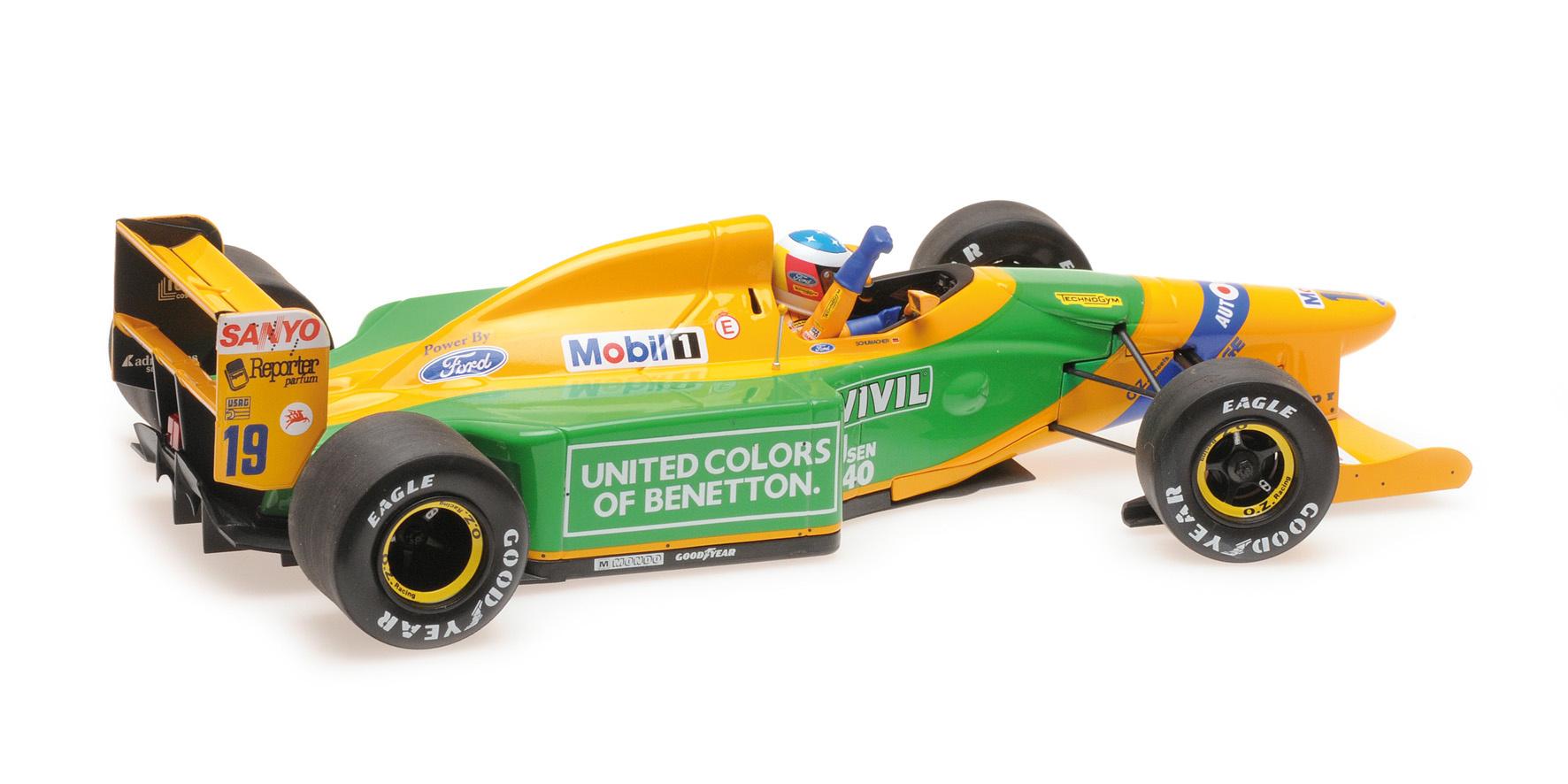 Minichamps 1:18 Schaalmodel Michael Schumacher - Winnaar Belgie 1992 - Benneton Ford B192