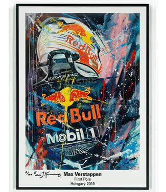 Max Verstappen First Pole Litho | Eric Jan Kremer