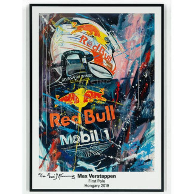 Max Verstappen First Pole Litho   Eric Jan Kremer