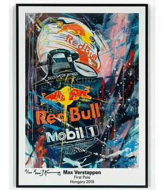 Max Verstappen First Pole Litho 50 x 70 cm | Eric Jan kremer
