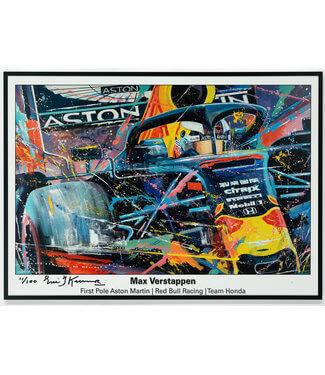Max Verstappen Red Bull First Pole Litho | Eric Jan kremer