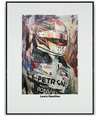 Lewis Hamilton 2019 Acryl op litho print met lijst