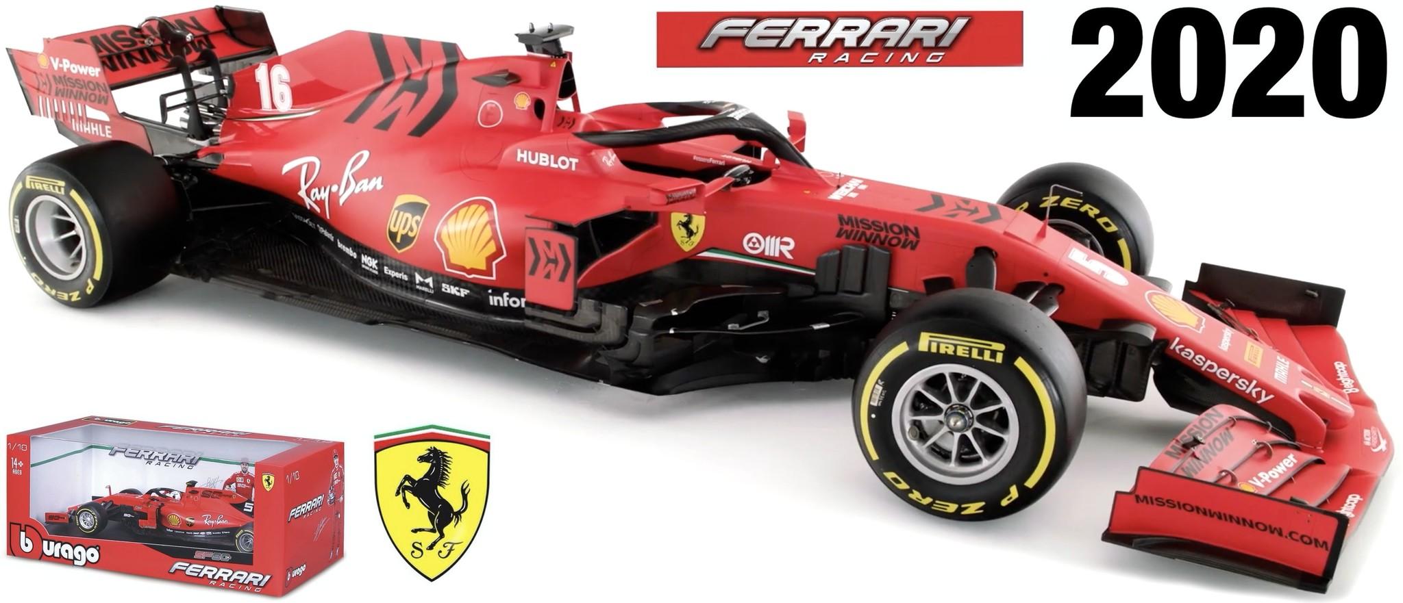 Bburago Charles LeClerc 1:18 Ferrari schaalmodel 2020