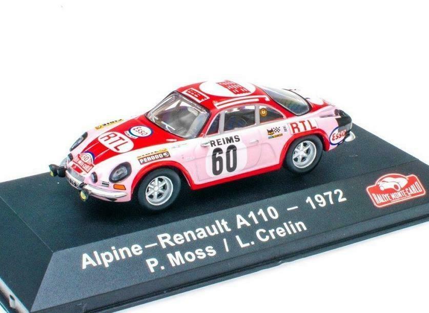 Atlas 1:43 Alpine Renault A110 #60 P. Moss/L. Crelin 1972