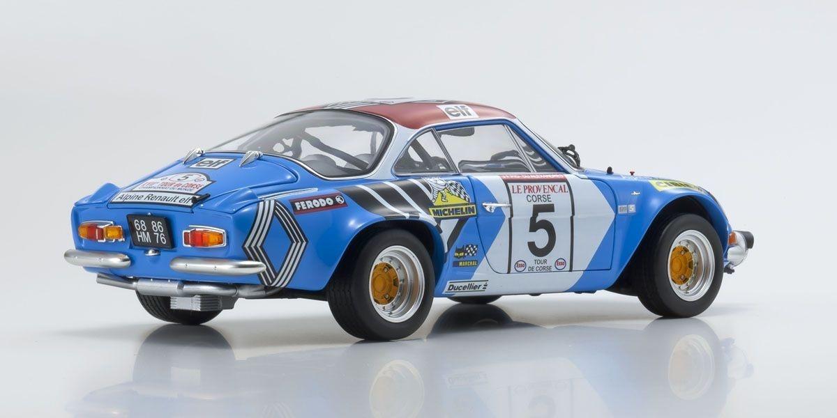 Kyosho schaalmodel Renault Alpine 1:18  A110 1973 Tour de Corse #5