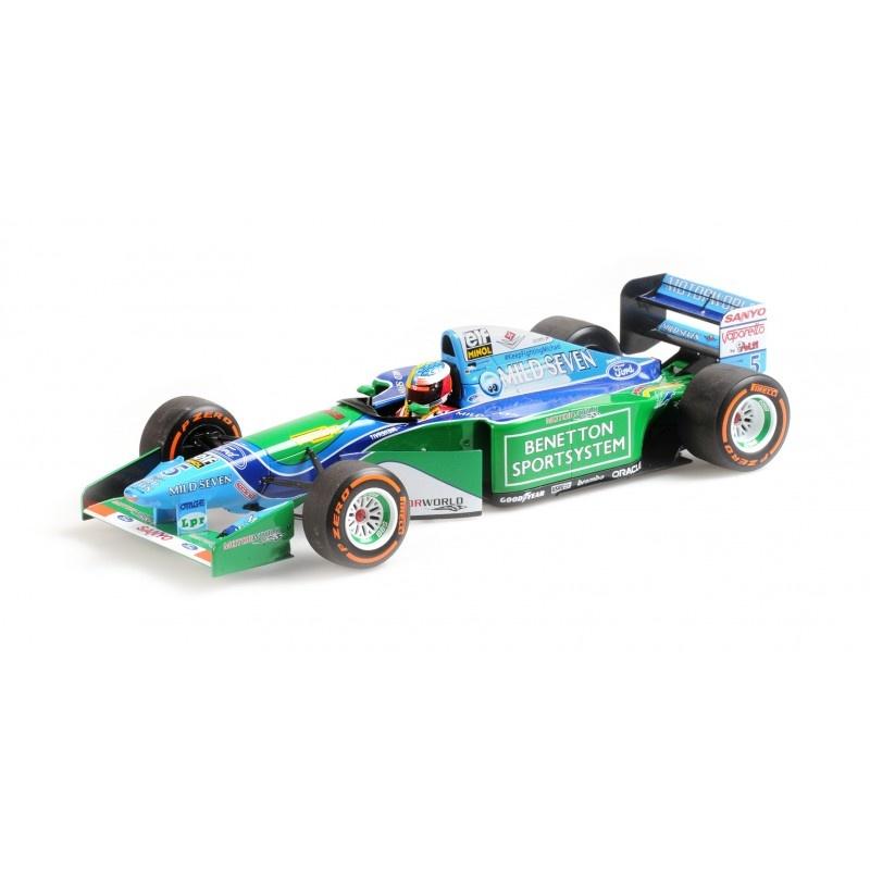 Minichamps Schaalmodel 1:18 Mick Schumacher B194 Benetton Belgie GP 2017