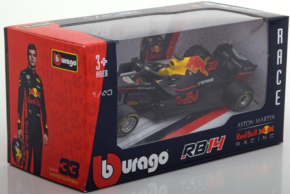 Bburago Max Verstappen Red Bull 1:43 RB14 2018