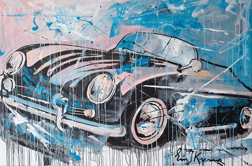 Porsche Porsche Speedster schilderij van Eric Jan Kremer