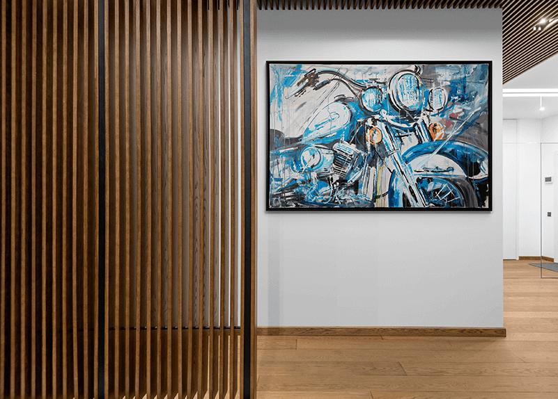 Harley Davidson schilderij van Eric Jan Kremer