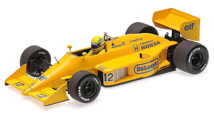Minichamps Schaalmodel Ayrton Senna 1:18 - Winnaar Monaco 1987  | Lotus Honda 99T