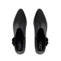 Black ankleboot Rosie with fringes