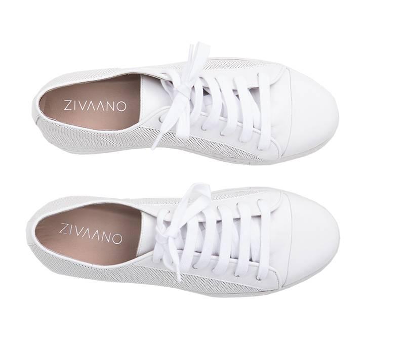 ZIVAANO Sneaker Joske wit (damesschoenen in grote maten