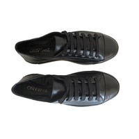 Sneaker Joske - black with satin laces
