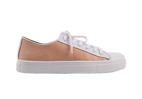 Sneaker Joske wit met zalm