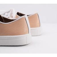 Sneaker Joske - wit met zalm