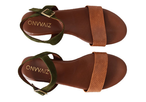 Sandal Sarah - olive/str.