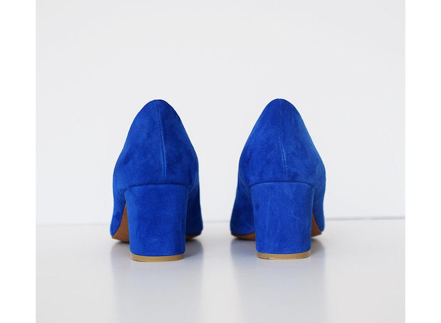 Pump Fleur - kobaltblauw