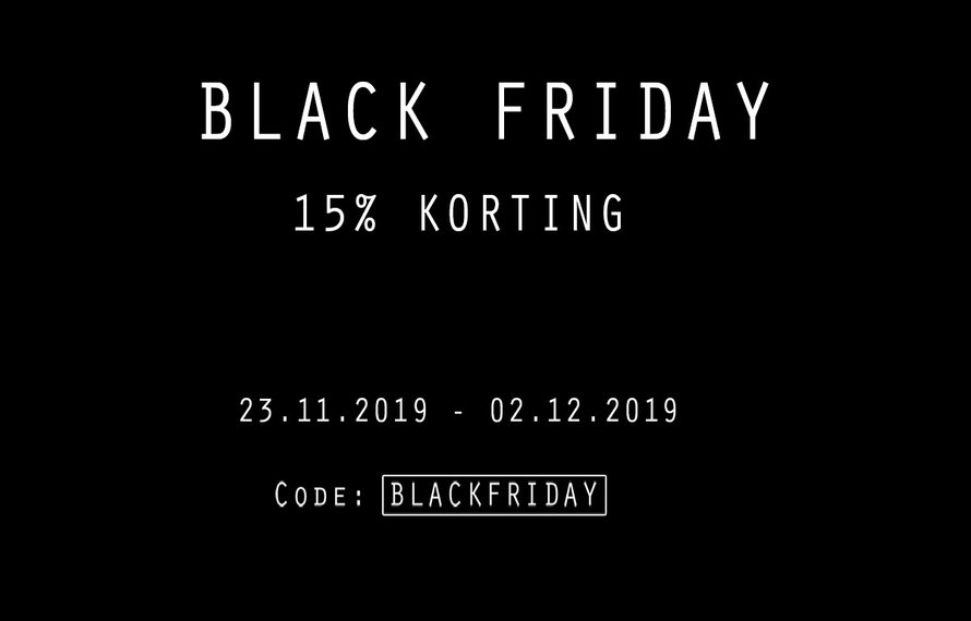 PRE BLACK FRIDAY ACTIE