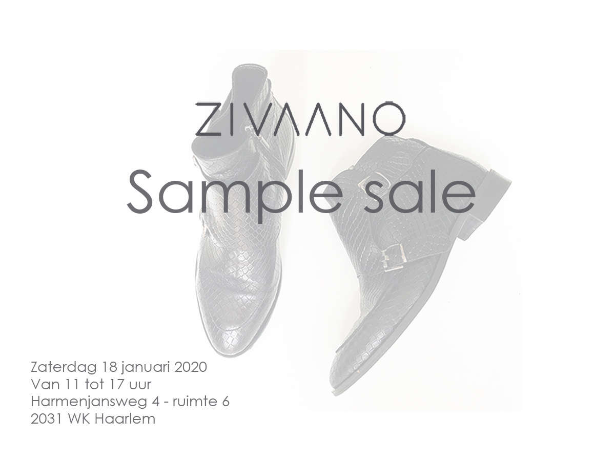 ZIVAANO - SAMPLE SALE  zaterdag  18 januari