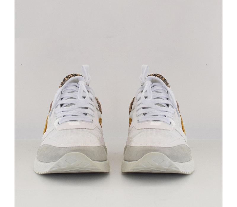 Sneaker Roos wit met slangenprint